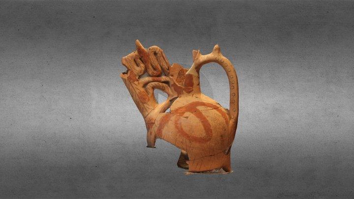 Acquamanile di epoca longobarda, IX secolo d.C. 3D Model