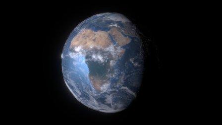 Planet Earth (Alt-Drag to change Lighting) 3D Model