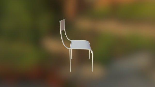 Chaise School 3D Model