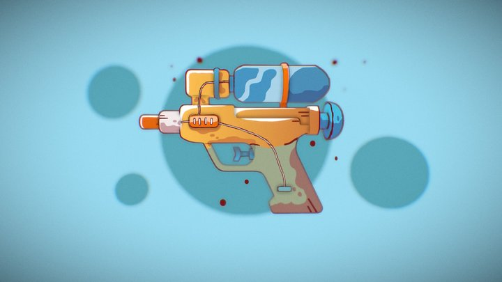 Water Pistol 3D Model