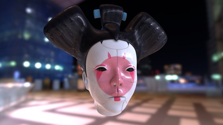Ghost in the shell Geisha 3D Model