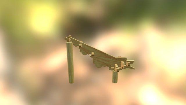 溜金斗拱 3D Model