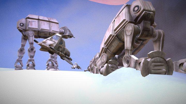 Star Wars - HOTH - Ralph McQuarrie's ConceptArt 3D Model