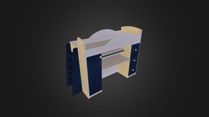 מיטת קומותיים דגם 255 A דוגמא3 3D Model