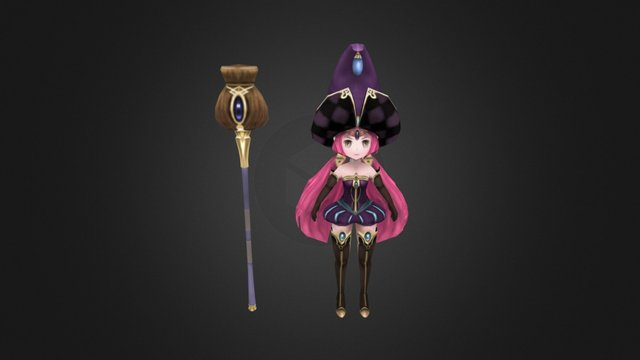 The little witch 3D Model
