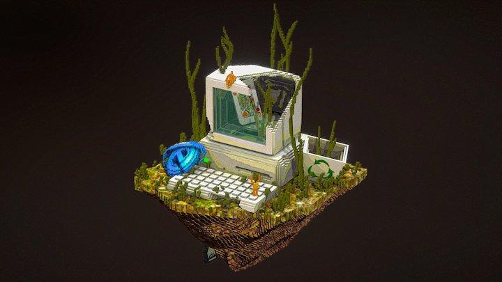 Ancient temple of x86 3D Model