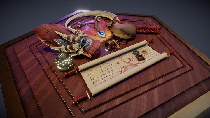Desert Fantasy Table 3D Model