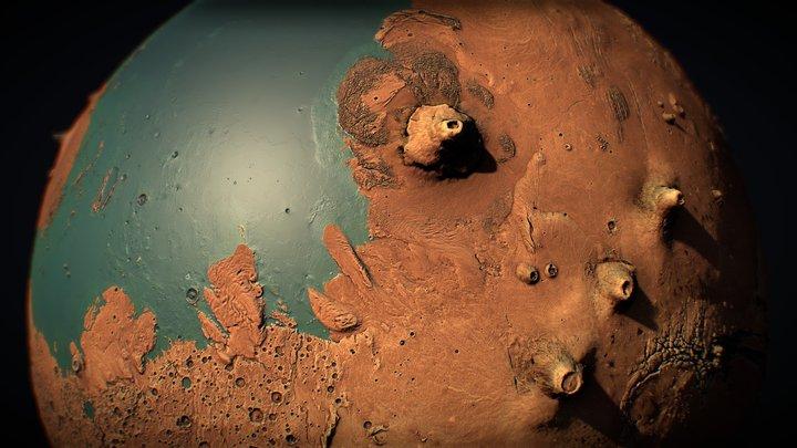 Ancient Mars 3D Globe 3D Model