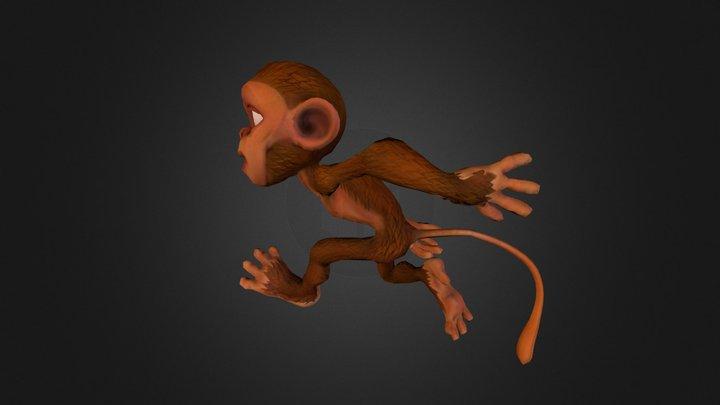 Monkey Swinging 3D Model