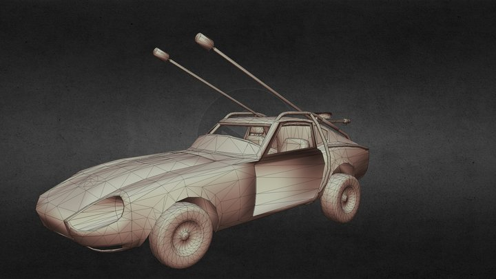 Fury Road Datsun 240z (Gameready) 3D Model
