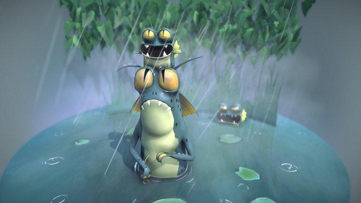 Swamp Creature 3D Model