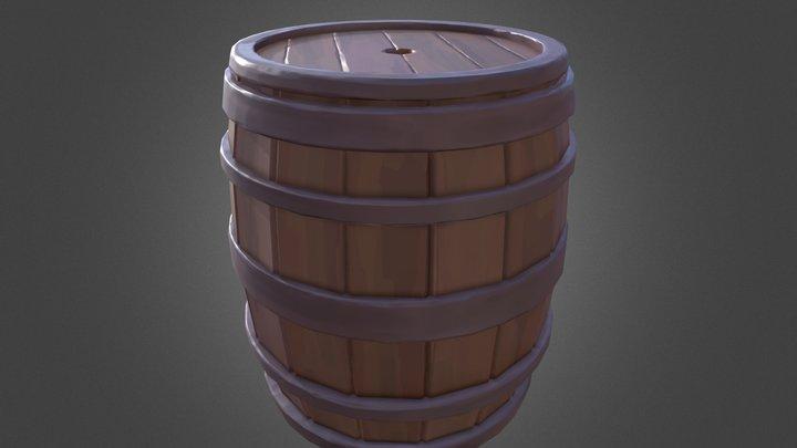 Stylised Barrel 3D Model