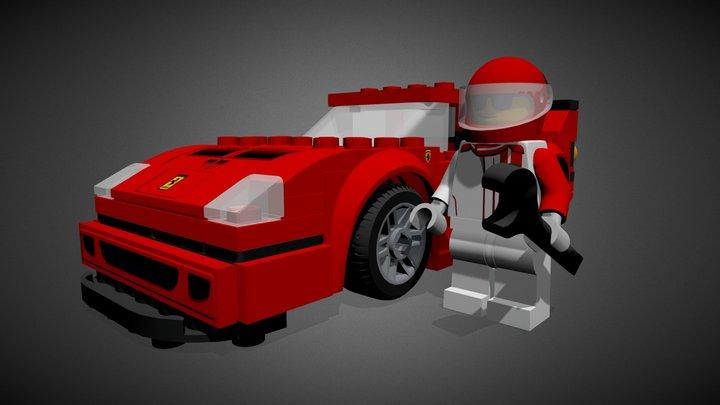 LEGO FERRARI F40 COMPETIZIONE - 75890 3D Model