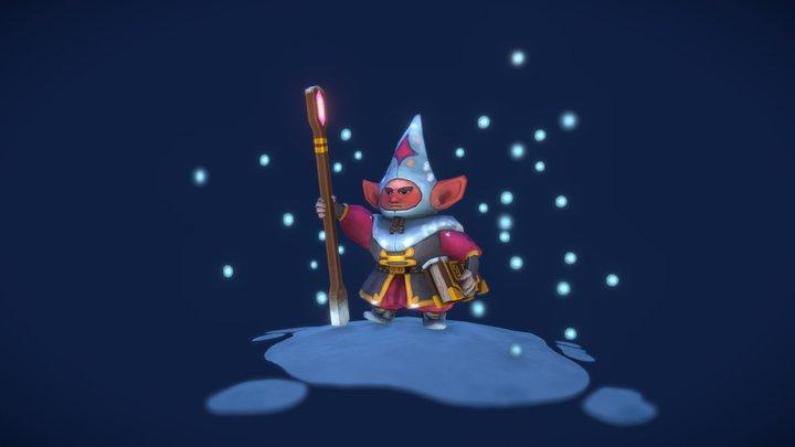 Gnome Sorcerer 3D Model