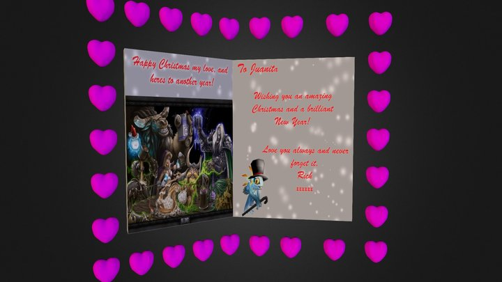 Christmas Card for my love! 3D Model