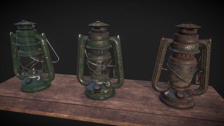 Oil Lantern (3 variations) 3D Model