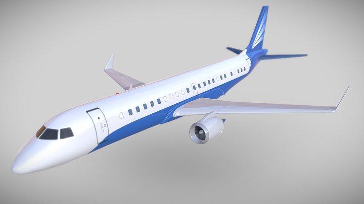 Embraer 1000 luxury jet 3D Model