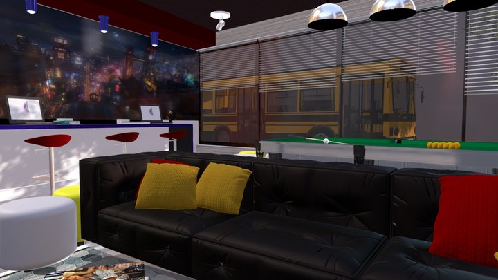 Student lounge 3D Model