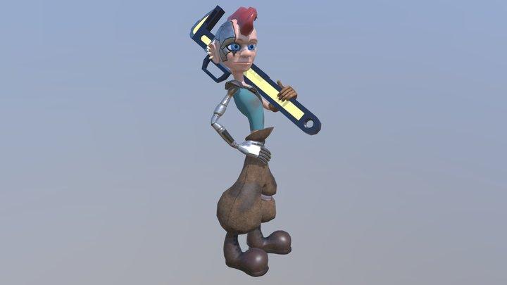Punk Mechanic 3D Model