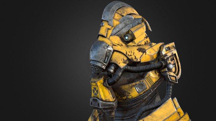 Sci-Fi Helmet (Final) 3D Model
