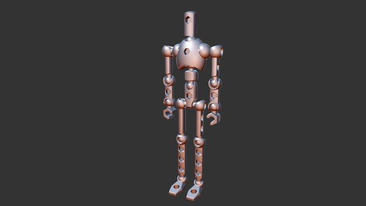 MoBility Stopmotion Animation Rig for ModiBot 3D Model