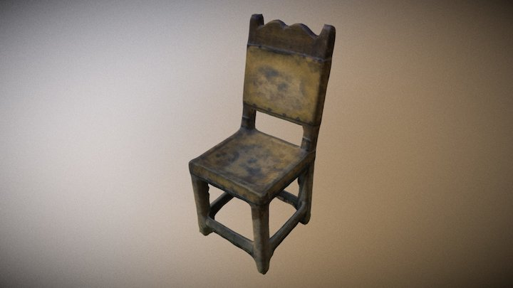Old chair (3D Scan) 3D Model