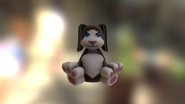 Pudgie! Dog 3D Model