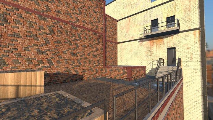 Rooftop Garden with Loft 3D Model