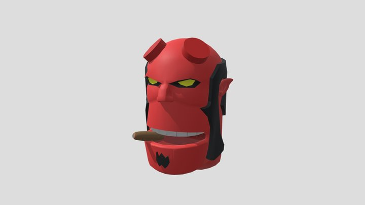Character Face Hellboy 3D Model