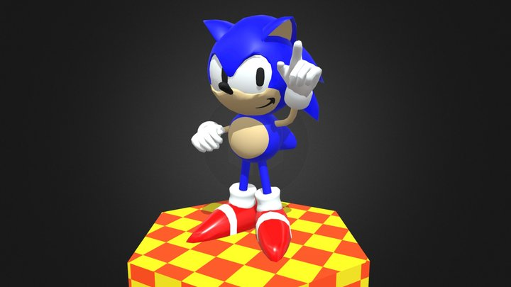 Early 90s Sonic Model Recreation 3D Model
