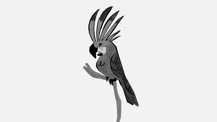 Palm Cockatoo by Elsa Chang 3D Model