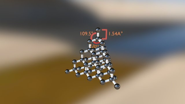 Diamond - Covalent Network Model 3D Model