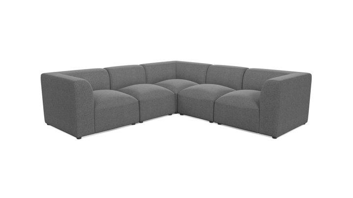 Juno 5 Seater Corner Sofa, Marl Grey 3D Model