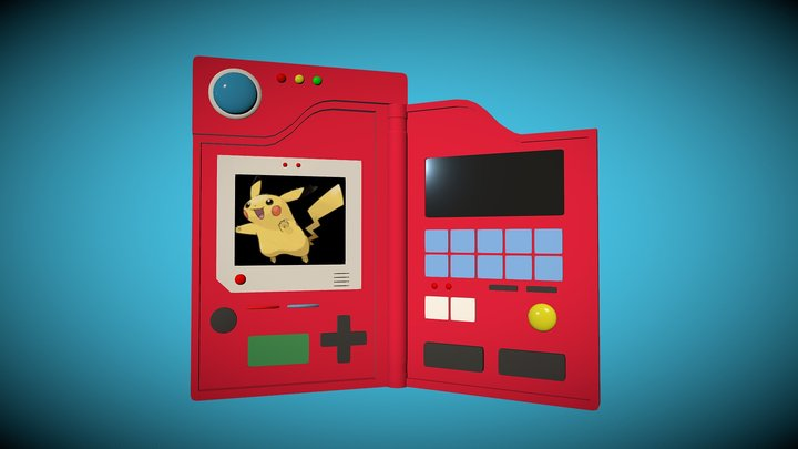 Low Poly Pokedex (Pokemon) 3D Model