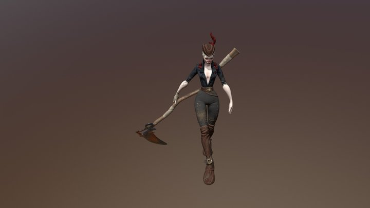Bloodborne inspired stylized self character 3D Model