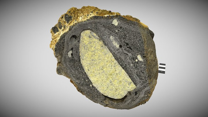Peridotite in basaltic lava 3D Model