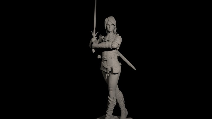 Ciri the witcher 3D Model
