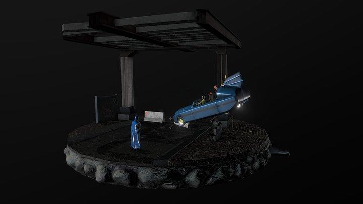Stealing the Batmobile 3D Model