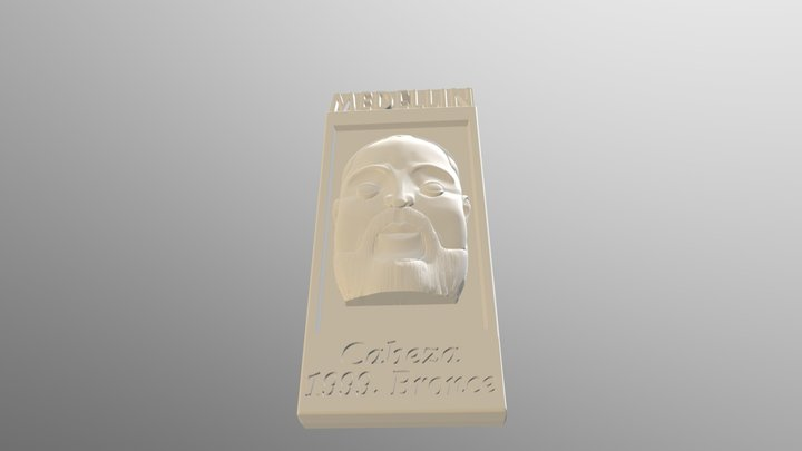 Llavero Botero Rostro 3D Model