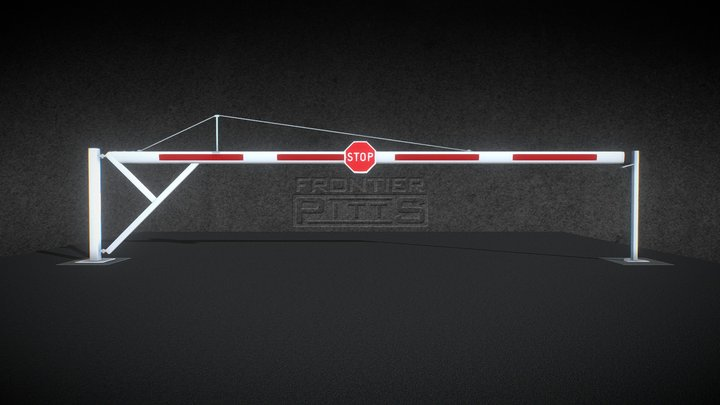 Frontier Pitts Road Closer – Swing Arm Barriers 3D Model