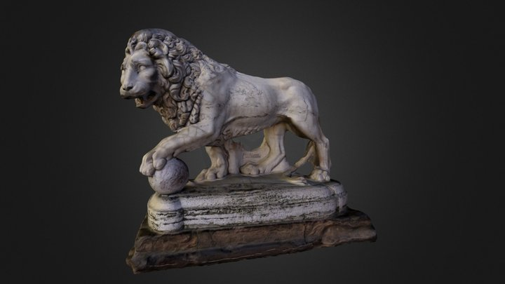 Lion from the Loggia 3D Model