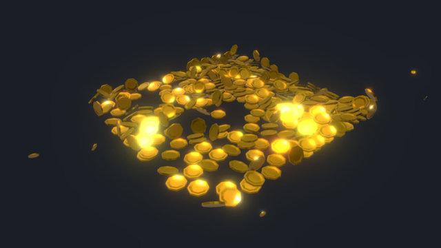Raining Gold 3D Model