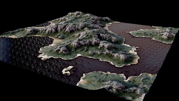 A view of the Artificial-earth 3D Model