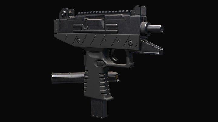 UZI PRO - 9MM - FPS - LOWPOLY 3D Model