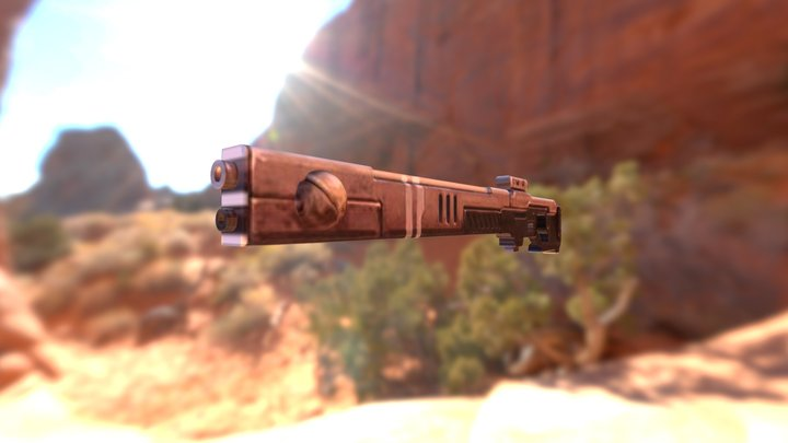 Tau Rifle 3D Model