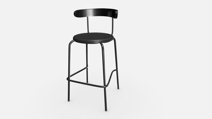 Bar Stool INGVARE 3D Model