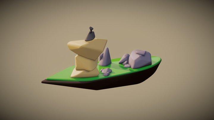 Rock Island 3D Model