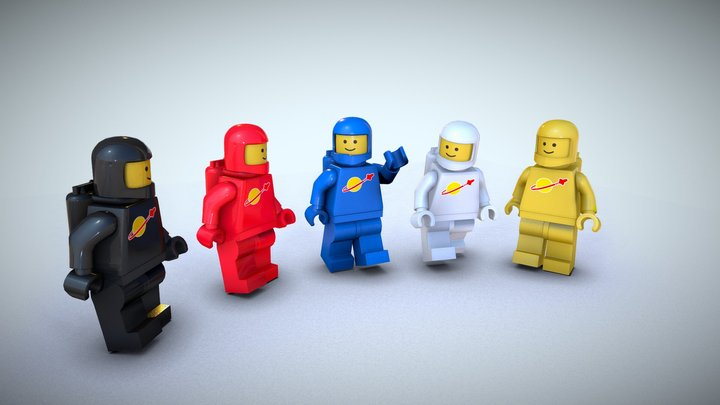 1980's Lego Spaceman Set 3D Model