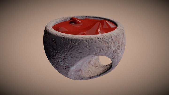 Stone soap cup 3D Model
