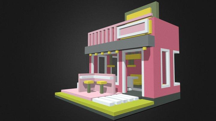 Tiny cafe 3D Model